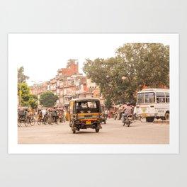 Jaipur traffic Art Print