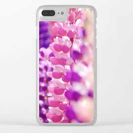 Pink & Lavender FlowerS Clear iPhone Case