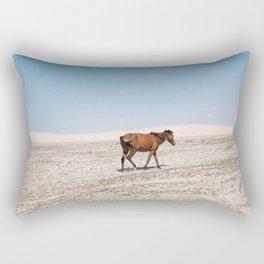 Lonely Horse Rectangular Pillow