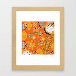 Sunny floral decor Framed Art Print