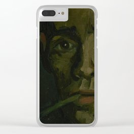 Head of a Man Clear iPhone Case