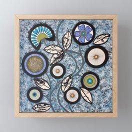 Lovely Flowers Blue Framed Mini Art Print