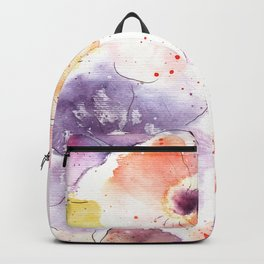 Watercolor Flowers Painting Backpack