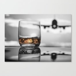 Airport on Ice Canvas Print