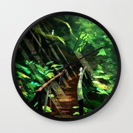Forest Spirits - Princess Mononoke Wall Clock