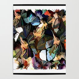 Fairies and Butterflies Communing With Nature Poster