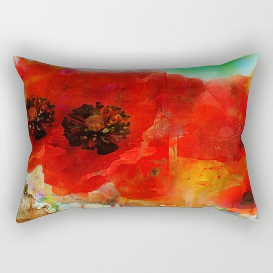 Champ de coquelicots Rectangular Pillow