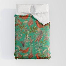 CARDINAL'S SONG - Green  Comforters