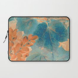 Blue and Orange Autumn Leaves Laptop Sleeve