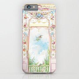 Rococo room with a garden view iPhone Case