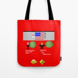 President KKK looks at Mexico Wall Tote Bag