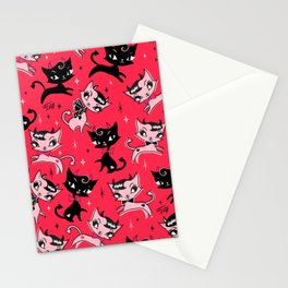 Devil Kitties Red Stationery Cards
