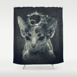 CosmicSphynx Shower Curtain