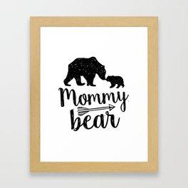 Mommy Bear Mothers Day Mom Gift Framed Art Print