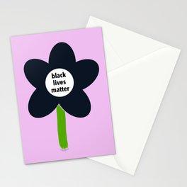 Black Lives Matter - BLM Flower img2 Stationery Cards