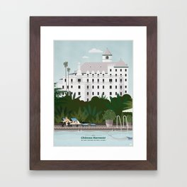 Chateau Marmont hotel Framed Art Print