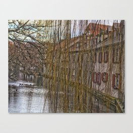 River Blau - Ulm ( Fischerviertel ) Canvas Print
