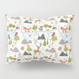 Funny Forest Map Pillow Sham