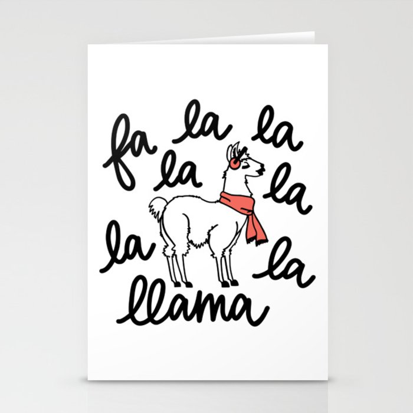 Fa La Llama Stationery Cards