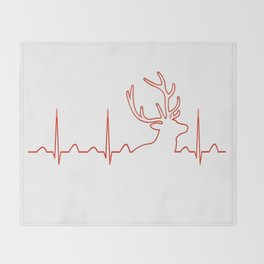 HUNTING HEARTBEAT Throw Blanket