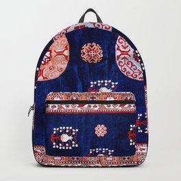 Khotan East Turkestan Floral Rug Print Backpack