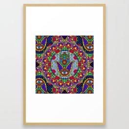 Hamsa Harmony Mandala Framed Art Print