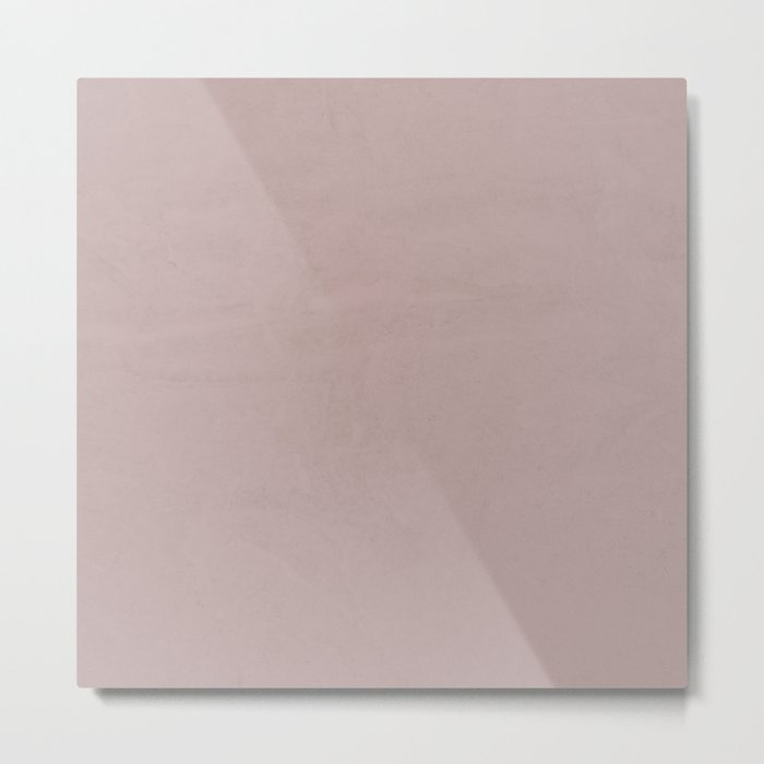 Simply Clay Pink Metal Print