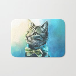 Handsome Cat Bath Mat