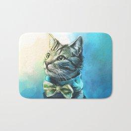 Handsome Cat Bath Mat