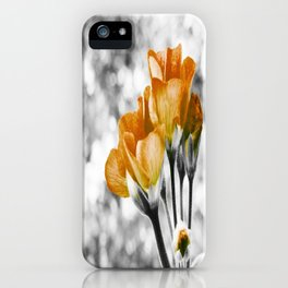 Golden Flowers : Pop of Color iPhone Case