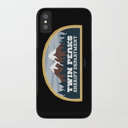 Twin Peaks Sheriff Department (Redux) iPhone Case