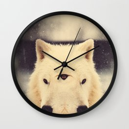 Wolf Pack Portaits #1 Wall Clock
