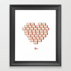 i heart robot Framed Art Print