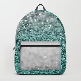 Silver Teal Ocean Glitter Glam #1 #shiny #decor #art #society6 Backpack