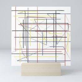 Patrón sobre blanco Mini Art Print