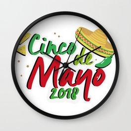 Cinco De Mayo 2018 Celebration Wall Clock
