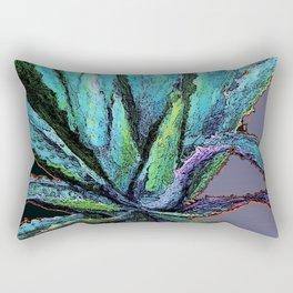 BLUE DESERT AGAVE CACTI PASTEL ART Rectangular Pillow