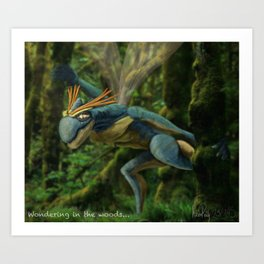 Wondering in the woods... Art Print