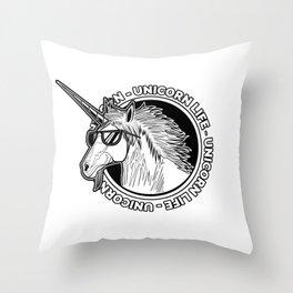 Unicorn Life Throw Pillow