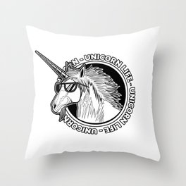 Unicorn Life Throw Pillow