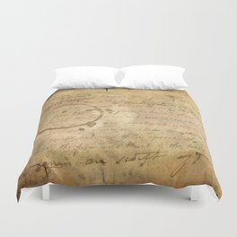 Caffeinated Kingdom; Vintage Old School Texture Series Duvet Cover