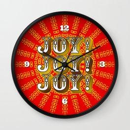 Joy! Joy! Joy! Wall Clock