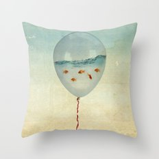 balloon fish Throw Pillow