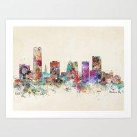 oklahoma Art Prints featuring oklahoma city oklahoma by bri.buckley