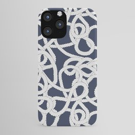 Nautical Rope Knots in Navy iPhone Case