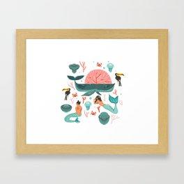 Mermaids summer Framed Art Print