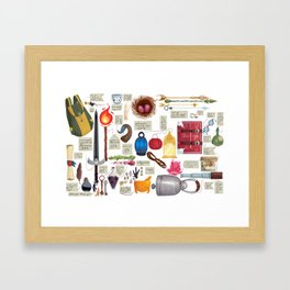 Shoppe Inventory Framed Art Print