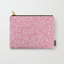 Spacey Melange - White and Dark Pink Carry-All Pouch
