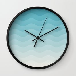 Deeb blue sea waves Wall Clock