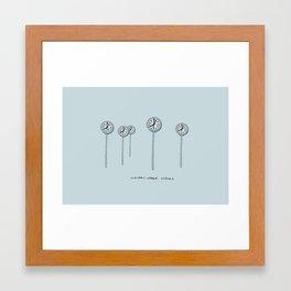 Canary Wharf Clocks Framed Art Print